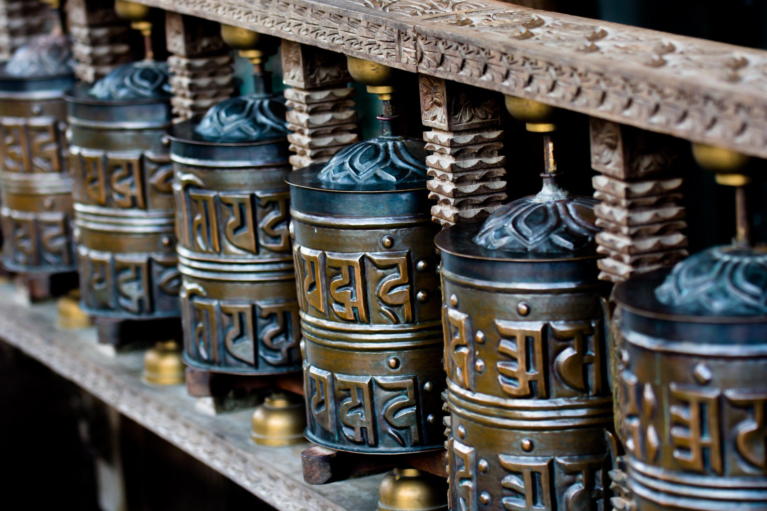 AKalyana - Moulins à prière tibétain